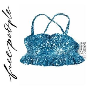 Free People Movement Plie All Day Bra Blue Peacock